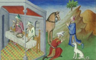 ציור מהמאה ה-15 המתאר קניבליזם